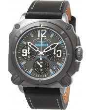 Dogfight DF0007 Mens Experten Black Leather Chronograph Watch