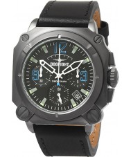 Dogfight DF0008 Mens Experten Black Leather Chronograph Watch