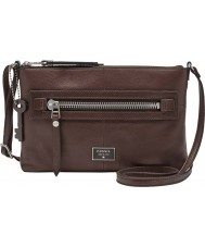 Fossil ZB6577206 Ladies Dawson Espresso Cross Body Bag