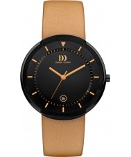 Danish Design Q29Q1125 Mens Titanium Tan Leather Strap Watch
