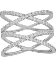 FROST by NOA 145018-52 Ladies Silver Ring With Cubic Zirconia - Size L