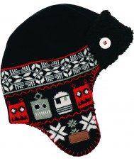 Dare2b DBC006-800C12 Boys Black Avert Ski Hat