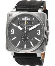 Dogfight DF0047 Mens Wingman Black Leather Strap Watch