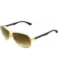 RayBan RB8313 61 Tech Carbon Fibre Gold 001-51 Sunglasses