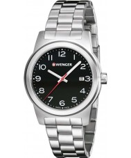 Wenger 01-0441-145 Mens Field Color Silver Steel Bracelet Watch