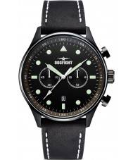 Dogfight DF0027 Mens Ace Black Leather Chronograph Watch