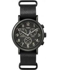 Timex Originals TW2P62200 Weekender Black Strap Chronograph Watch