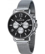 Thomas Earnshaw ES-8001-44 Mens Investigator Silver Mesh Chronograph Watch