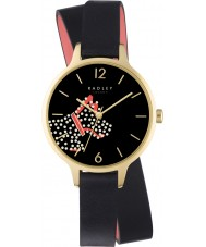 Radley RY2402 Ladies Fleet Street Black Leather Strap Watch