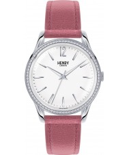Henry London HL39-SS-0063 Ladies Hammersmith White Dusky Pink Watch with Swarovski Elements
