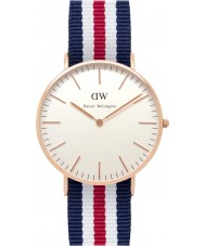 Daniel Wellington DW00100030 Ladies Classic Canterbury 36mm Rose Gold Watch