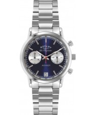Rotary GB90130-05 Mens Les Originales Sports Avenger Blue Silver Chronograph Watch