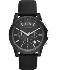 Armani Exchange AX1326 Sport Black Silicone Chronograph Watch