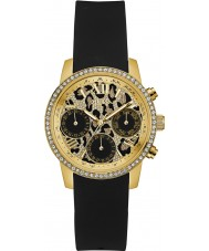 Guess W0023L6 Ladies Time To Give Black Silicone Chronograph Watch