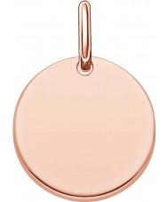 Thomas Sabo LBPE0001-415-12 Ladies Love Bridge 18ct Rose Gold Plated Pendant