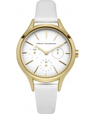 French Connection FC1273WG Ladies White Leather Strap Watch