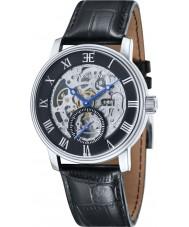 Thomas Earnshaw ES-8041-01 Mens Westminster Black Croco Leather Strap Watch