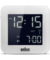 Braun BNC008WH-RC Global Radio Controlled Travel Alarm Clock - White