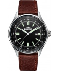 Dogfight DF0028 Mens Ace Brown Leather Strap Watch