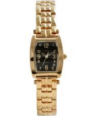 Krug Baümen 1965KL-G Ladies Tuxedo Black Gold Watch