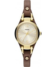 Fossil ES3264 Ladies Georgia Mini Brown Leather Strap Watch