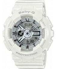 Casio BA-110-7A2ER Ladies Baby-G World Time White Resin Strap Watch
