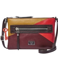 Fossil ZB6654995 Ladies Dawson Mini Red Multicolour Cross Body Bag
