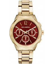 Karl Lagerfeld KL4011 Ladies Optik Gold Plated Chronograph Watch