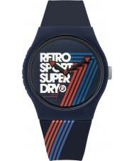 Superdry SYG181U Urban Retro Blue Silicone Strap Watch