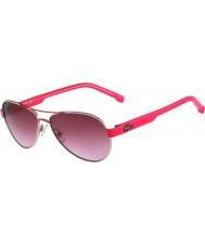 Lacoste Kids L3103S Silver Pink Sunglasses