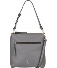 Fiorelli FH8682-GREY Ladies Elliot City Grey Satchel