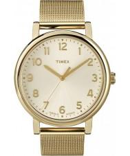 Timex Originals T2N598 Ladies Gold Mesh Classic Round Watch