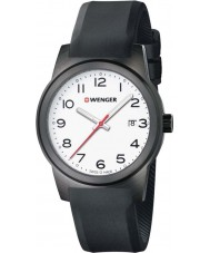 Wenger 01-0441-150 Mens Field Color Black Silicone Strap Watch