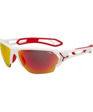 Cebe S-Track Large Matt White Red Sunglasses