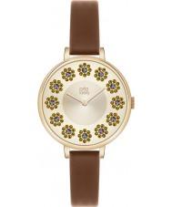 Orla Kiely OK2084 Ladies Ivy Swarovski Flowery Set Tan Leather Strap Watch