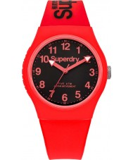 Superdry SYG164RB Urban Red Silicone Strap Watch