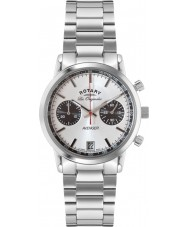 Rotary GB90130-06 Mens Les Originales Sports Avenger All Silver Chronograph Watch
