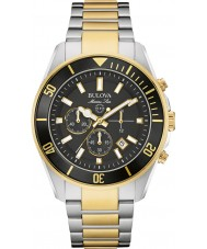 Bulova 98B249 Mens Marine Star Two Tone Chronograph Watch