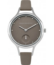 French Connection FC1274E Ladies Grey Leather Strap Watch