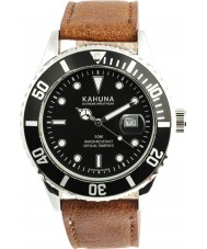 Kahuna KUS-0103G Mens Brown Leather Strap Watch