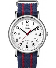 Timex Originals T2N747 Mens Blue Red Weekender Slip Through Watch