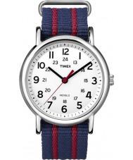 Timex Originals T2N747 Mens Blue Red Weekender Slip Through Watch