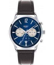 Henry London HL41-CS-0039 Mens Knightsbridge Black Leather Chronograph Watch
