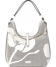 Fiorelli FH8453-WHITE Ladies Nina White Cutout Hobo Bag