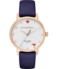 Kate Spade New York KSW1040 Ladies Metro Blue Leather Strap Watch
