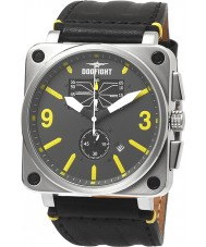 Dogfight DF0048 Mens Wingman Black Leather Strap Watch