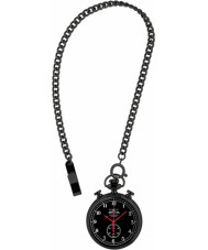 Invicta 19674 Mens Vintage Black Steel Pocket Watch with Chain