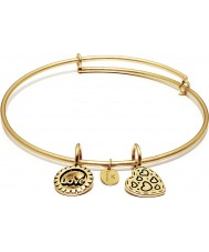 Chrysalis CRBT0007GPSML Joy 14ct Gold Plated Expandable Bangle
