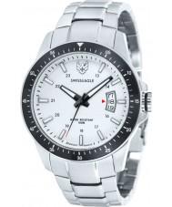 Swiss Eagle SE-9032-22 Mens Field Battalion Silver Steel Bracelet Watch