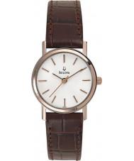 Bulova 98V31 Ladies Dress White Brown Watch